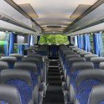 Der VDL Futura 2 Fahrgastraum bietet Platz für 47 Passagiere.